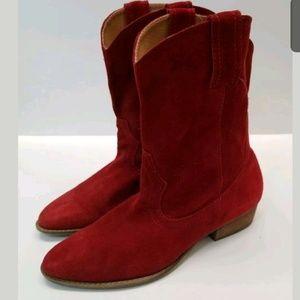 Mia Cowboy Boots Vintage 1980s Red Sz 8.5